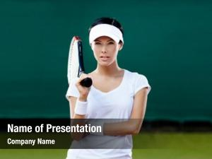 Tennis female player court