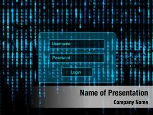 Matrix conceptual screen login window
