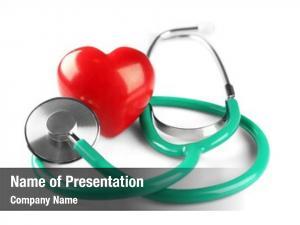 Transplantation stethoscope and red plastic
