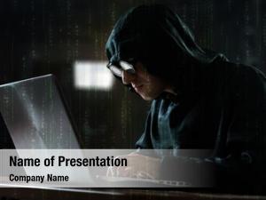 His hacker front computer