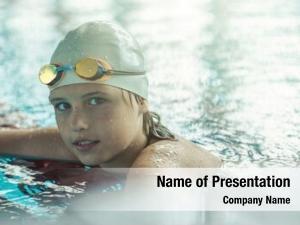 Professional swimmer child
