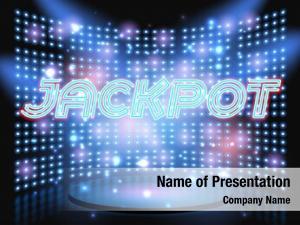 Win jackpot casino neon lettering