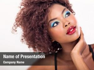 Female african american beauty closeup
