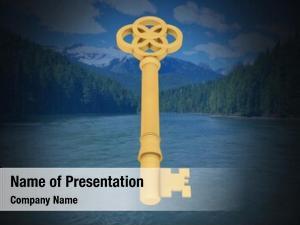 Key digital composite floating over