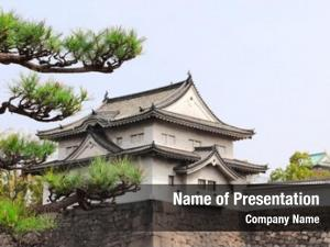 Osaka watch tower castle, japan