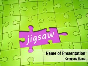 Puzzle green jigsaw