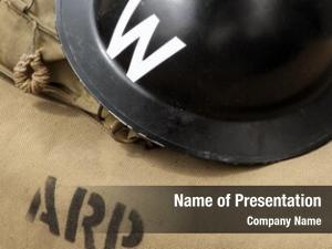Wardens air raid helmet canvas