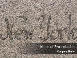 Logo new york granite slab