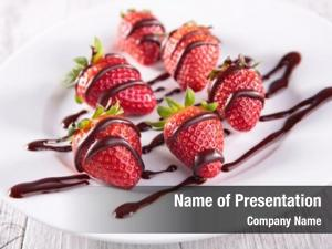 Strawberry and chocolate sauce