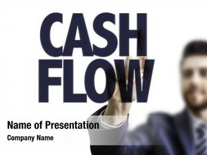 Pointing business man text: cash