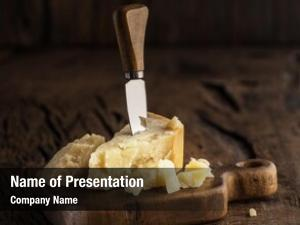 Cheese piece parmesan cheese knife