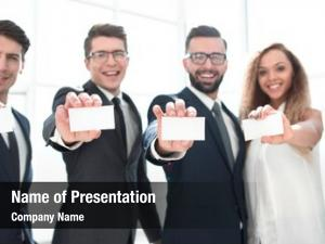 Team professional business showing their