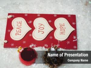 Massages christmas label christmas ornaments