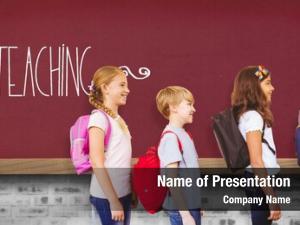 School word teaching kids standing