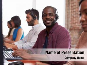 Portrait of staff powerpoint background