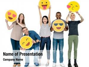 People diverse happy holding happy
