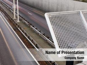 Overpass safety fence over motorway