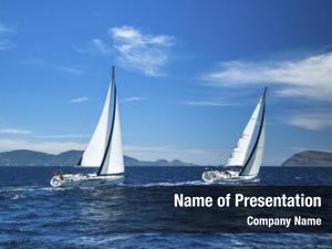 Regatta boat sailing