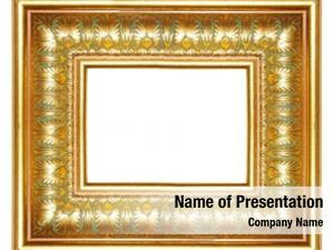 Frame gilded antique egyptian ornaments