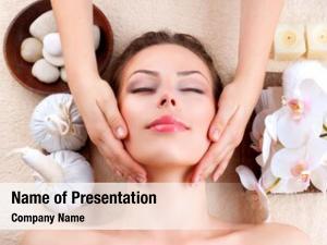 Getting beauty girl facial massage