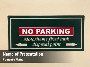 Fixed parking motorhome tank disposal