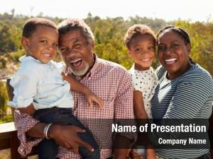 Grandparents and grandchildren standing