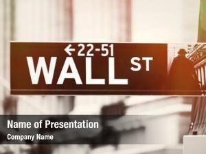 Sign wall street new york