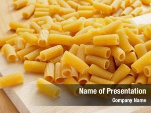 Uncooked pile uncooked penne pasta