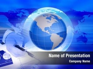Business abstract global planet earth