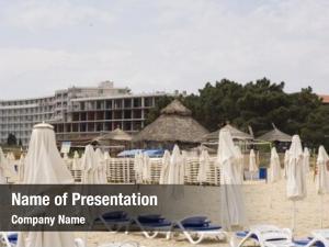 Sunny tourists beach beach, bulgaria