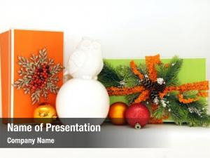 Presents display christmas wrapped orange