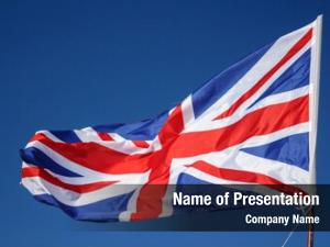 Britain closeup great flag waving,