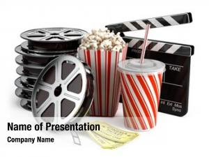 Clapper cinema concept: board, film
