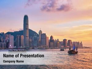 Skyline hong kong cityscape downtown