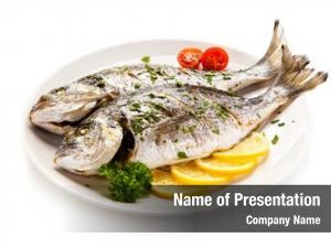 Roast fish dish fish vegetables