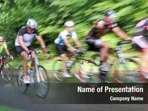 Motion racing bicycle, blur