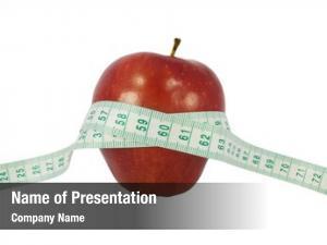 Red diet concept apple measure