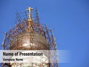 Orthodox restoration site church –