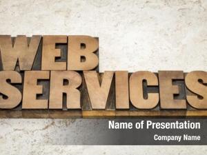 Text web services vintage letterpress