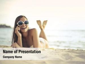 Beach phone conversation