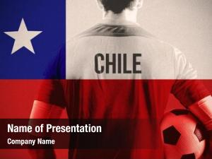 Player chile football holding ball