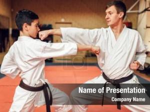 Masters, martial arts karate practice