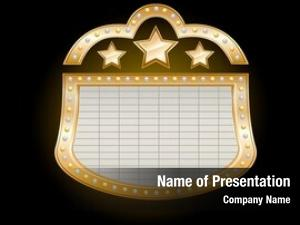 Marquee golden theater stars lights