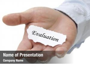 Holding business man evaluation note