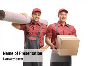 Carpet movers holding box white