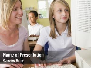 Computer student teacher terminal typing