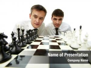 Looking two men chess figures