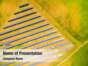 Solar aerial view power plant