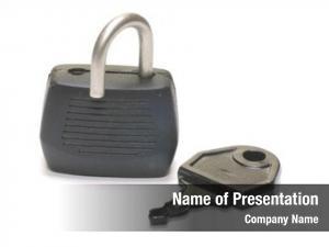 White lock key