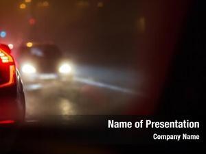 Car evening/night city traffic cars